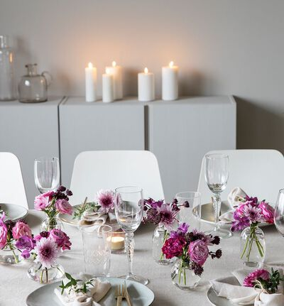 DIY festpakke i rosa og lilla