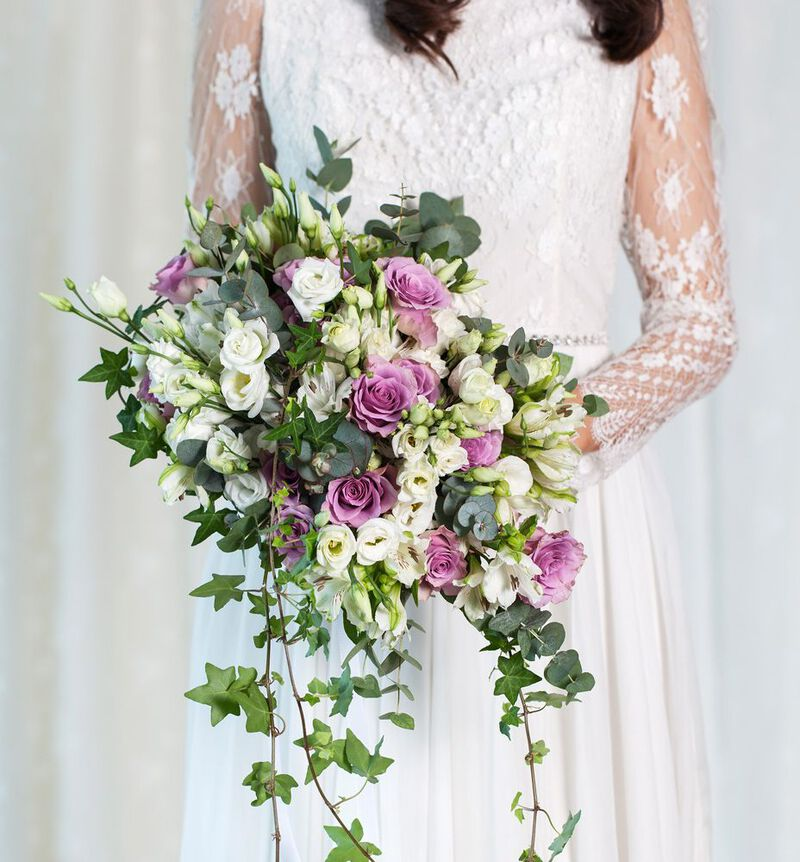 Bohemsk brudebukett i lilla image number null