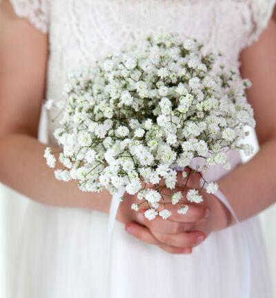 Romantisk brudepikebukett med slør