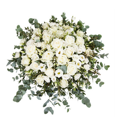 Hvit borddekorasjon med roser L