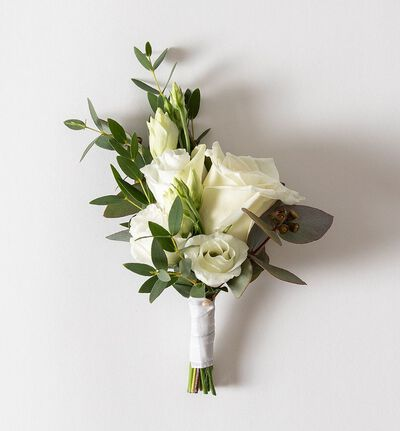 Liten Simplicity bryllupspakke i hvitt