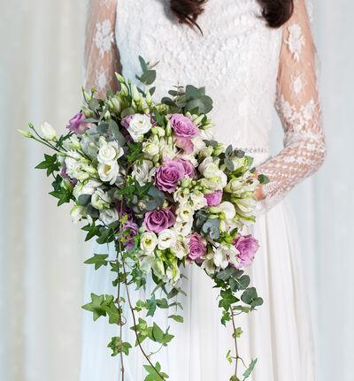 Stor Bohemsk bryllupspakke i lilla og hvitt