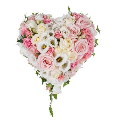 Rosa brudebukett med roser