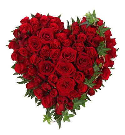 Fylt hjerte med røde roser S