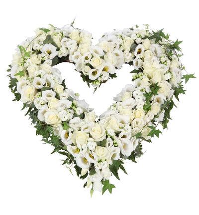 Åpent hjerte i hvitt M