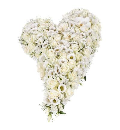 Fylt hjerte i hvitt M