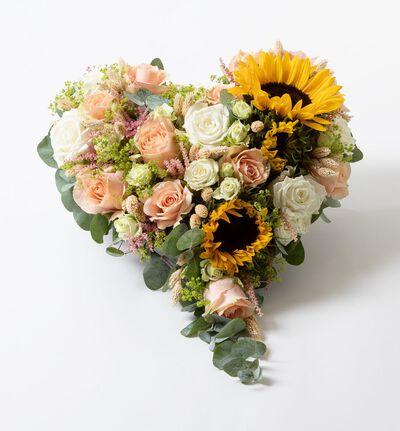 Miljøvennlig hjerte med solsikker