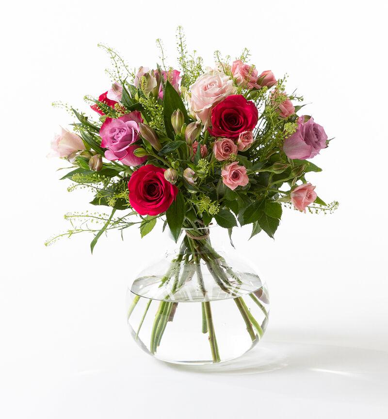 Rosebukett i kalde farger med alstroemeria bildenummer 1