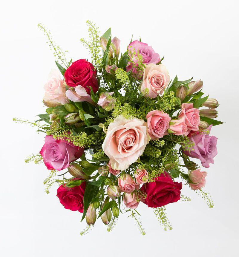 Rosebukett i kalde farger med alstroemeria bildenummer 2