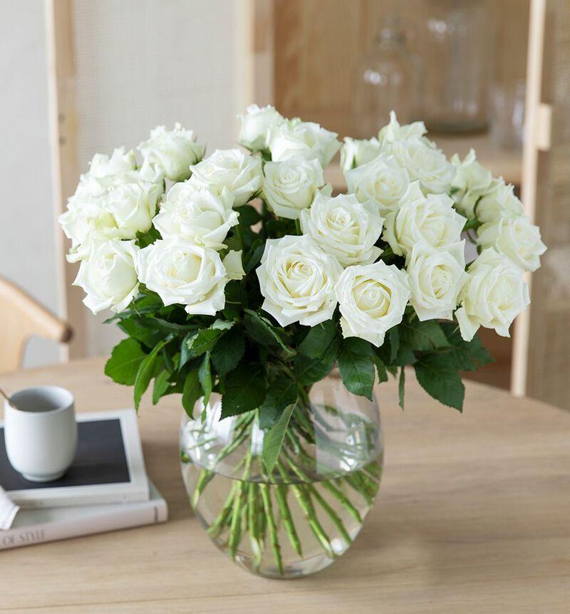 30 hvite roser bildenummer 3
