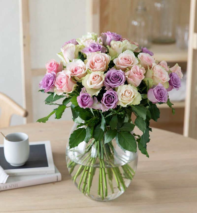 30 Fairtrade roser i rosa og lilla bildenummer 3