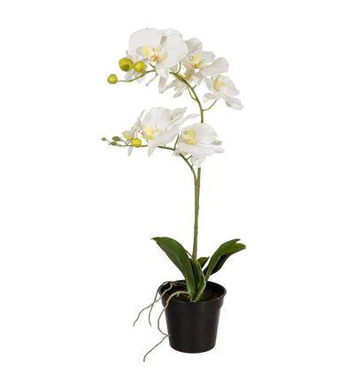 Kunstig hvit orkide M