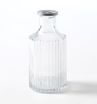 Lav Dalebekken glassvase med sølvkant