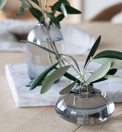 Misty glassvase gråbrun mini