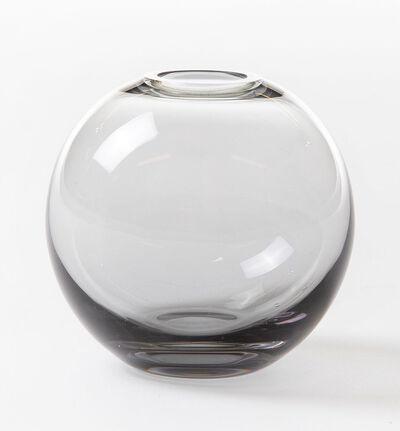 Misty glassvase gråbrun mini rund
