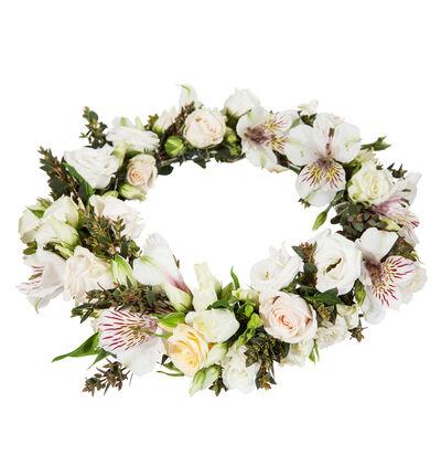 Romantisk dus blomsterkrans