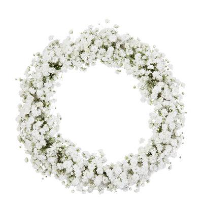 Blomsterkrans med brudeslør