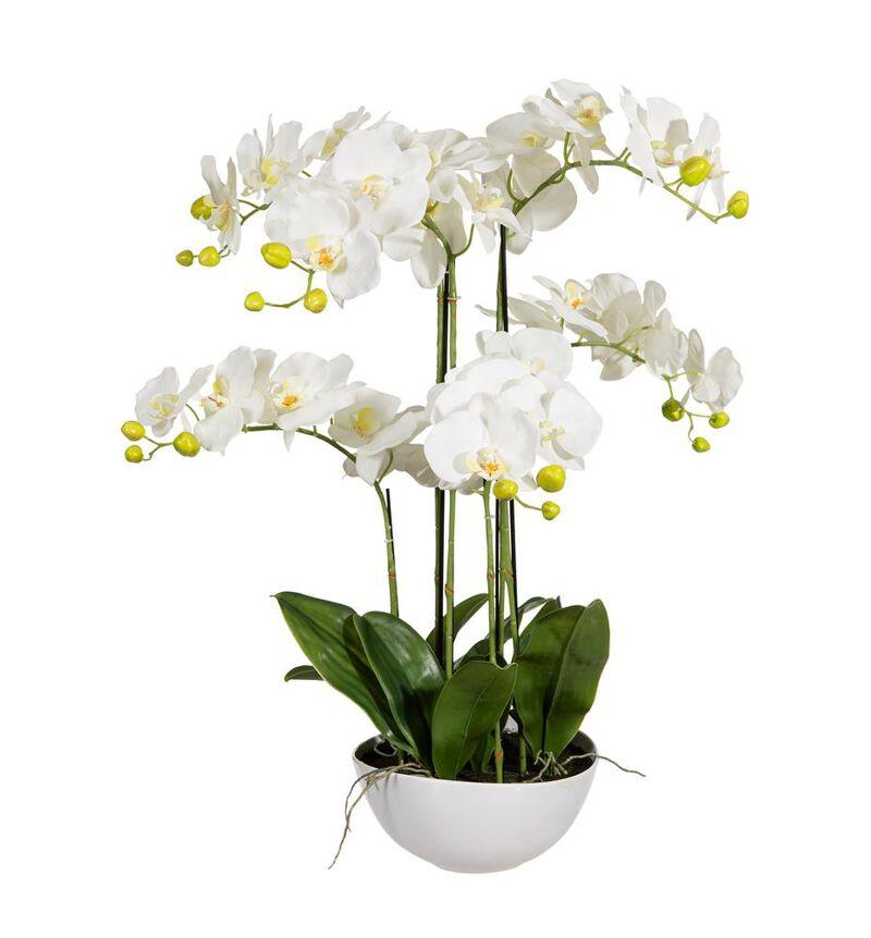 Kunstig hvit orkide XL bildenummer 1