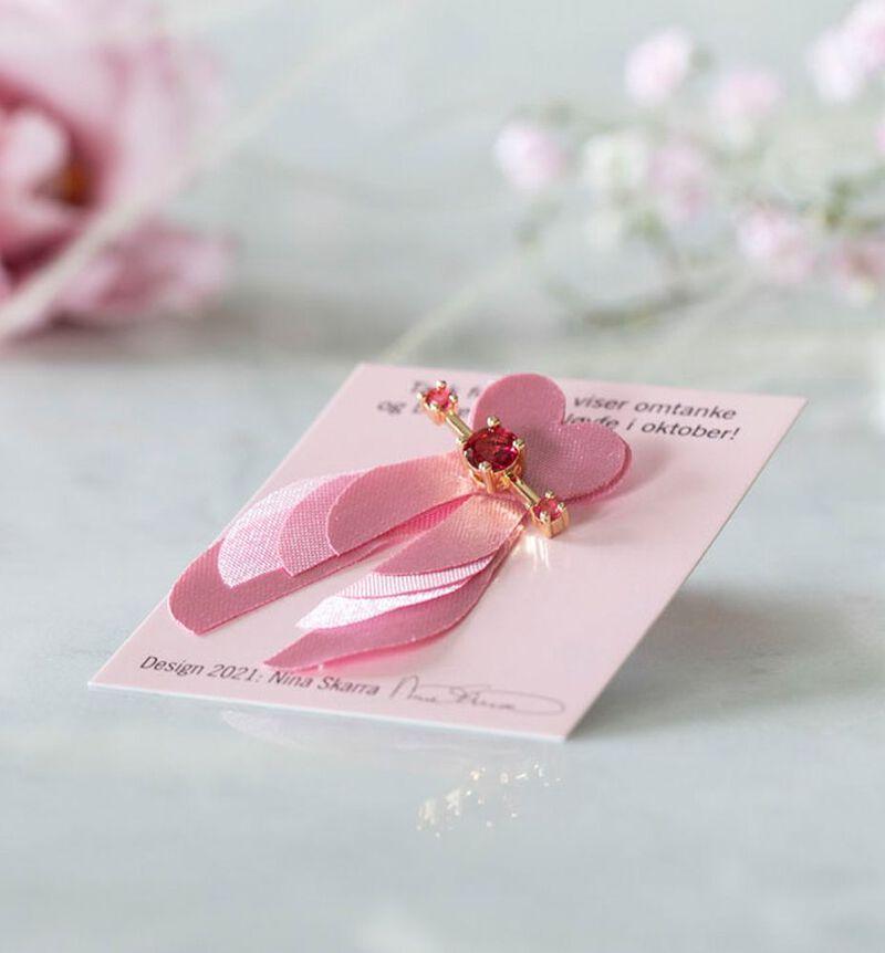 Rosa sløyfe- designpin bildenummer 3