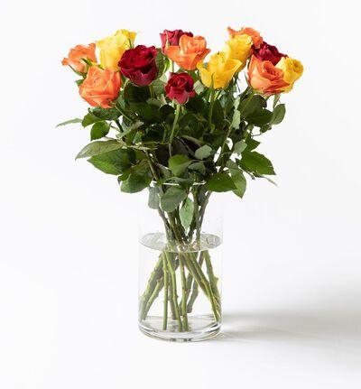 15 Fairtrade Rosa sløyfe roser varme farger