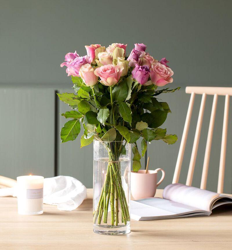 15 Fairtrade Rosa sløyfe roser lilla/rosa bildenummer 2