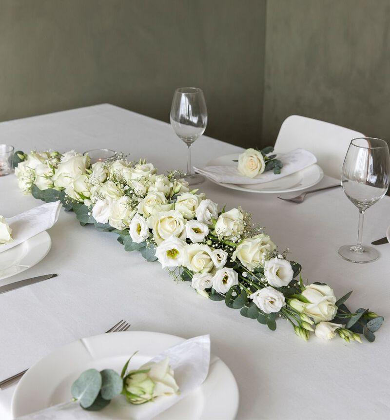 Hvit avlang borddekorasjon L bildenummer 2