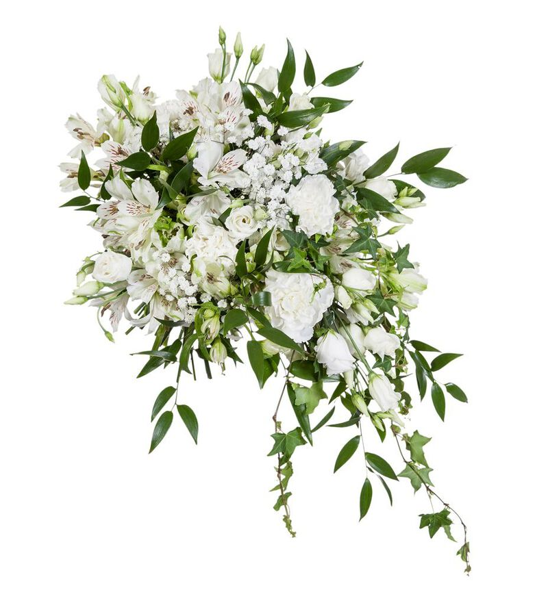 Bohemsk brudebukett i hvitt bildenummer 2