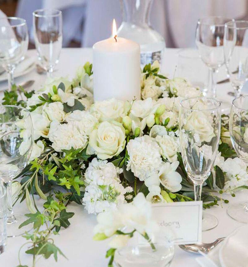 Romantisk hvit bordkrans bildenummer 2