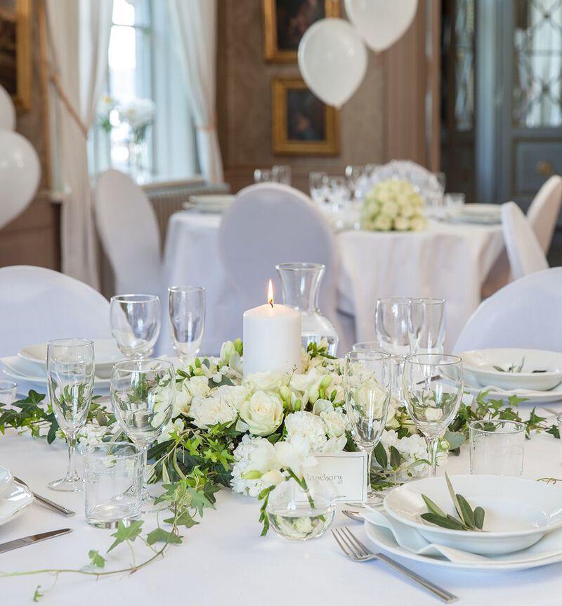 Romantisk hvit bordkrans bildenummer 3