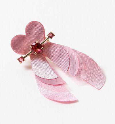 Rosa sløyfe- designpin