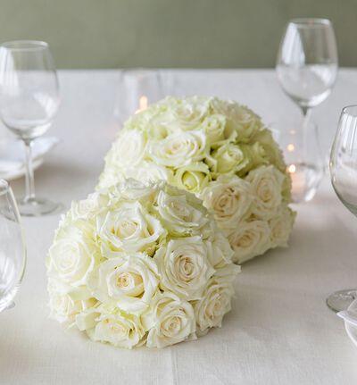 Hvit rosekule stor