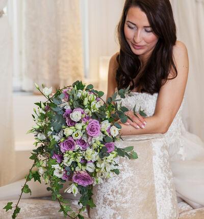 Medium Bohemsk bryllupspakke i lilla og hvitt