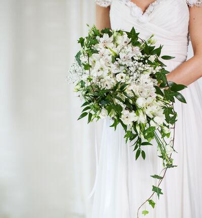 Medium Bohemsk bryllupspakke i hvitt