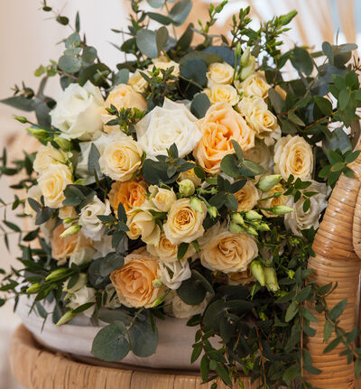 Medium Romantisk bryllupspakke i fersken