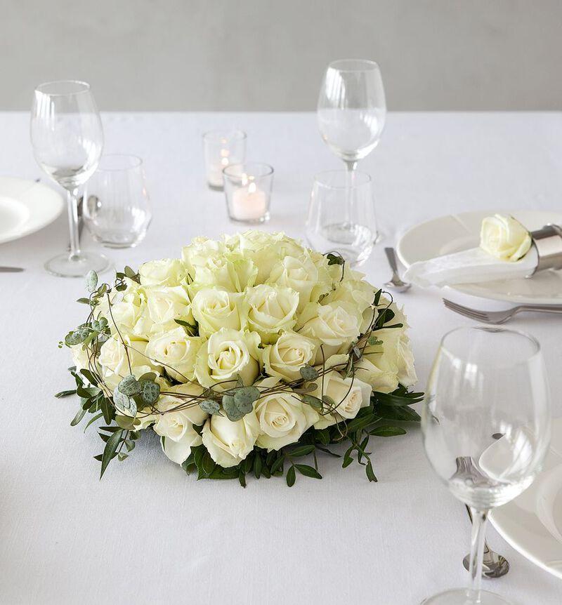 Hvit borddekorasjon L bildenummer 2