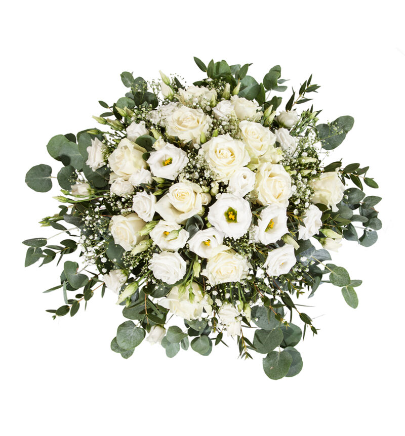 Hvit borddekorasjon med roser M bildenummer 1