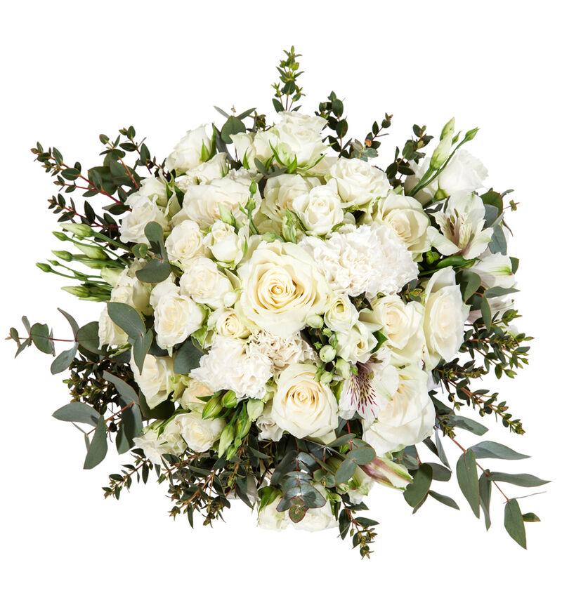 Romantisk brudebukett i hvitt bildenummer 1