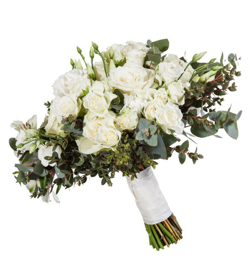 Romantisk brudebukett i hvitt bildenummer 2