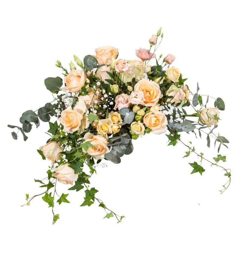 Bohemsk brudebukett i fersken bildenummer 1