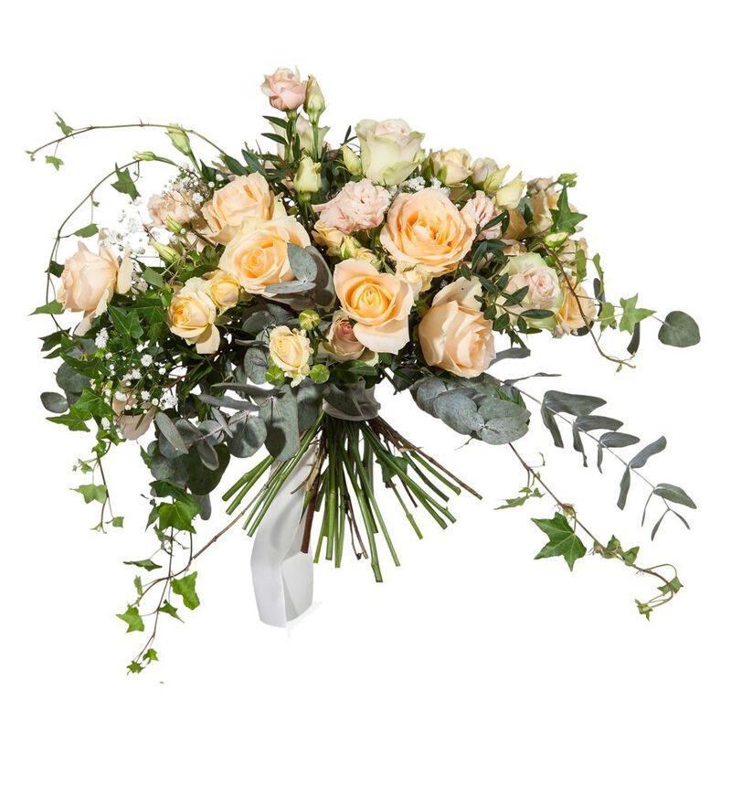 Bohemsk brudebukett i fersken bildenummer 2